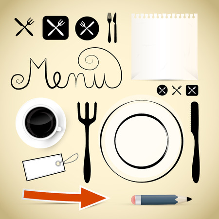 Restaurant Menu Vector Design Elements Vector