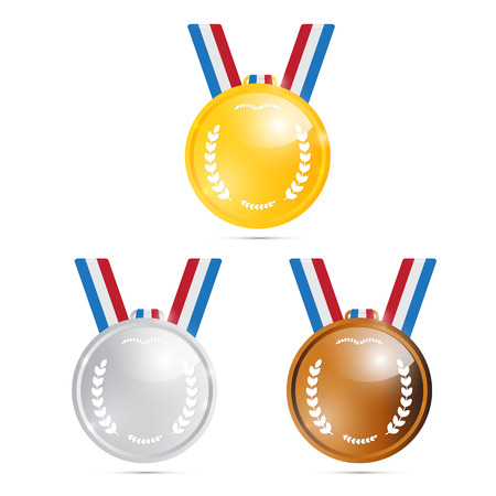 Vector Medals: Gold, Silver, Bronze, First, Second, Third  Vector