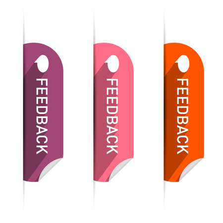 Vector Feedback Icons Set Isolated on White Background  Vector