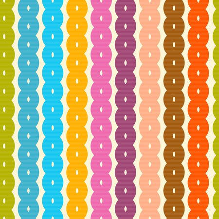 Abstract Retro Colorful Seamless Background  Vector