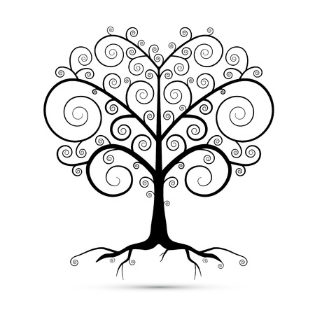 Abstract Vector Black Tree Illustration  Vector