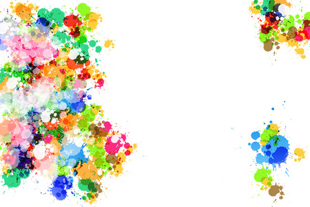 Colorful Vector Abstract Splashes Background Vector
