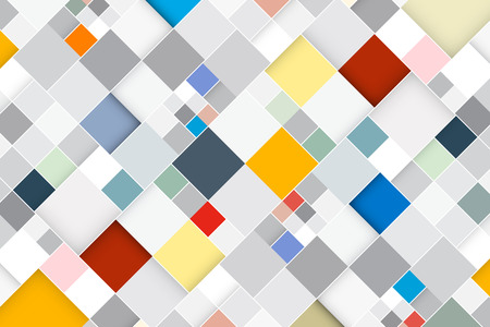 Colorful Vector Abstract Square Retro - Modern Background Vector