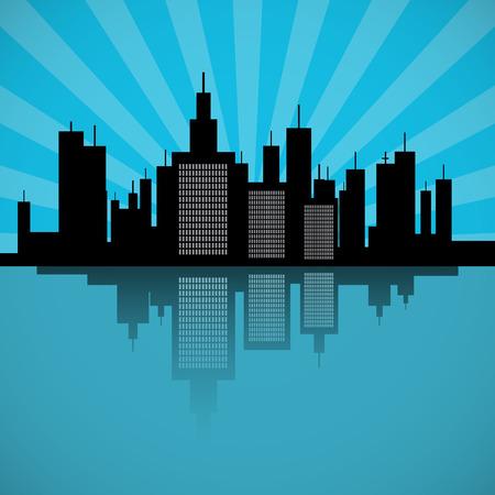 clouds scape: City Scape Illustration