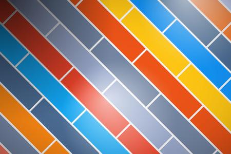 brick background: Astratto retr� vettore Colorful Brick Background