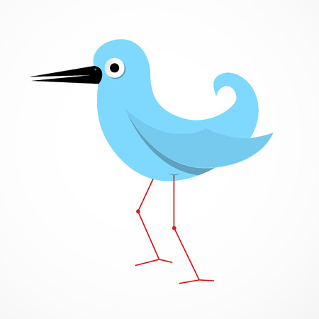 Vector Blue Paper Bird Illustration Vector