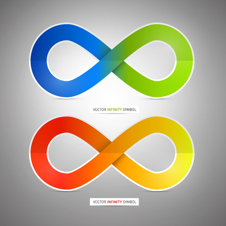 rd: Colorful Vector Paper Infinity Symbols Illustration