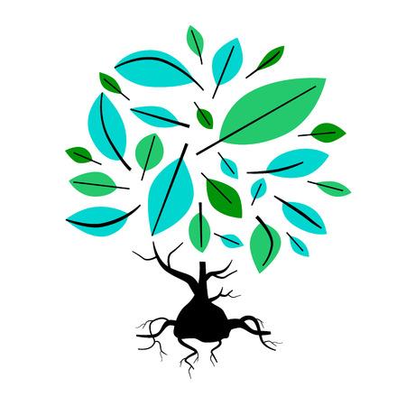 twirled: Astratto Vector Tree Illustration Vettoriali