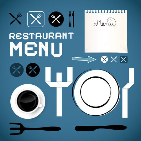 Restaurant Menu Template - Vector Design Elements  Vector