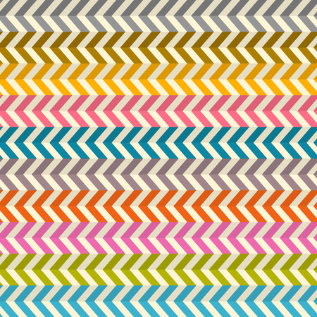 toothed: Seamless Abstract Colorful Toothed Zig Zag Paper Background