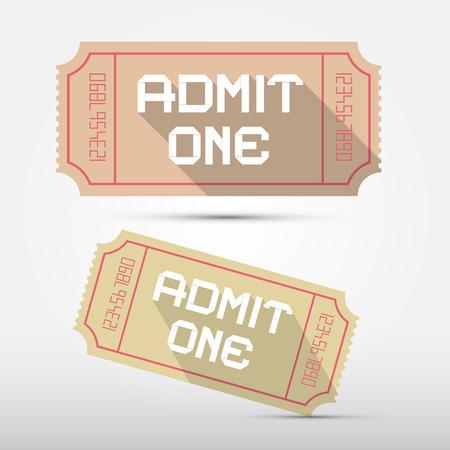 admit: Vector Admit One Ticket Illustration