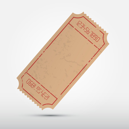 Vector Empty Ticket Illustration Isolated on Grey Background Illustration