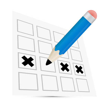 Vector Pencil Check Option Illustration Vector