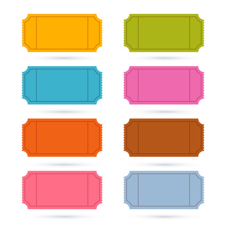 tickets: Colorful Vector Ticket Set Illustration