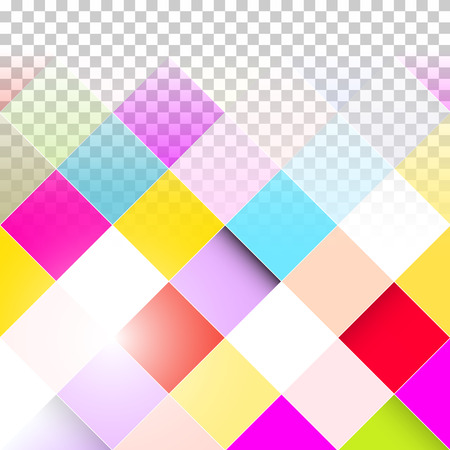Abstract Vector Background - Transparent Colorful Squares  Vector