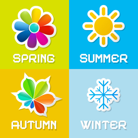 the four elements: Four Seasons Vector Illustration