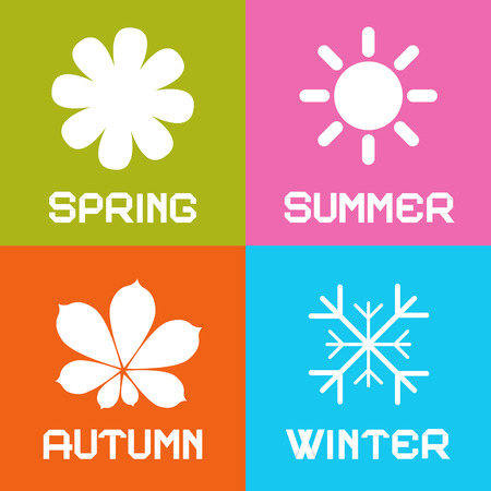 Four Seasons Vector Illustration Vector