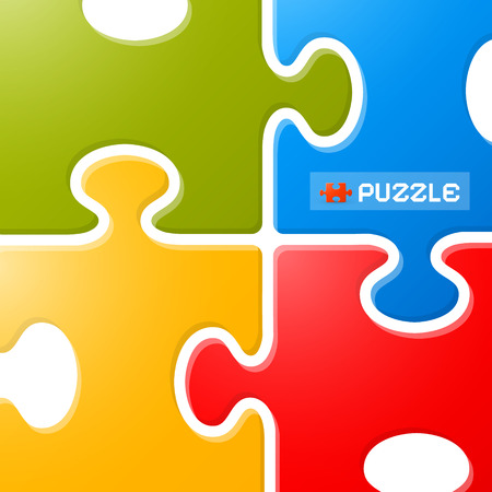 Colorful Puzzle Vector Background  Vector
