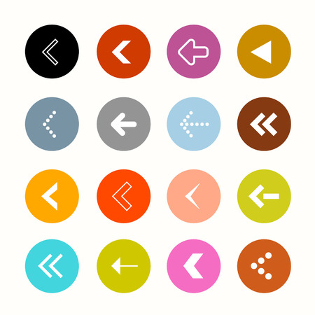 Arrows Set in Circles - Vector Illustration Vector