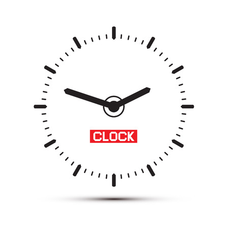 Abstract Alarm Clock Illustration Vector