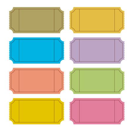 Colorful Illustration Vecteur Ticket Jeu Vecteurs