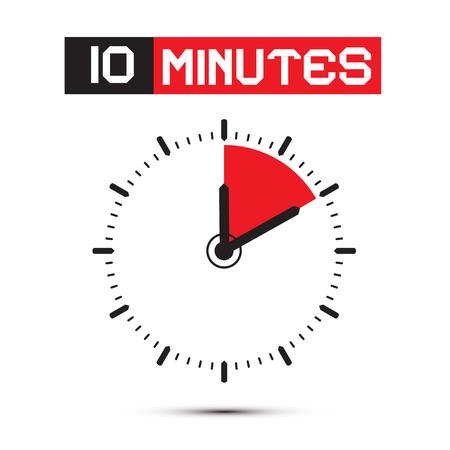 stop watch: Ten Minutes Stop Watch - Clock Illustration Illustration