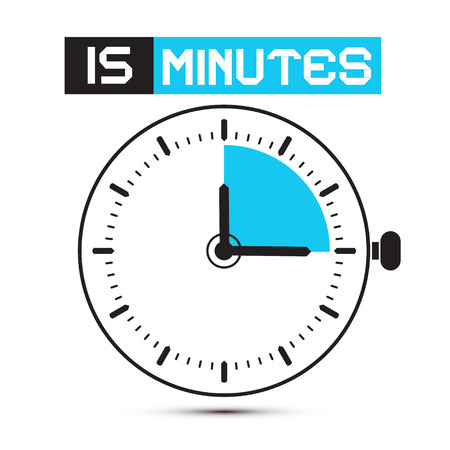 Fifteen Minutes Stop Watch - Clock Illustration 일러스트