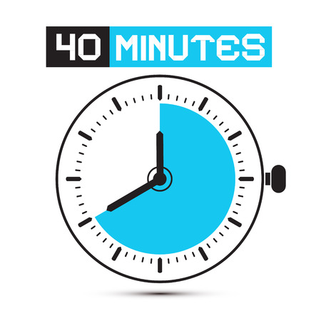forty: Forty Minutes Watch - Clock Illustration