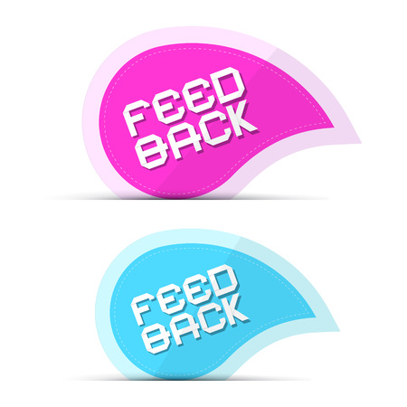 Paper Feedback Icons Illustration Isolated on White Background Vector