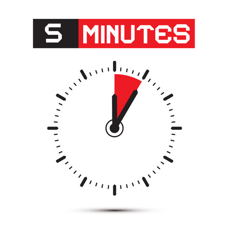 Five Minutes Stop Watch - Clock Illustration