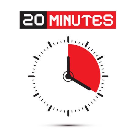 Twenty Minutes Stop Watch - Clock Illustration