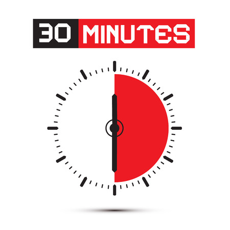thirty: Thirty Minutes Stop Watch - Clock Illustration