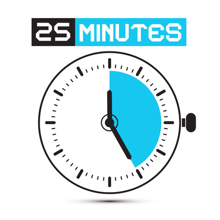 Twenty Five Minutes Stop Watch - Clock Illustration
