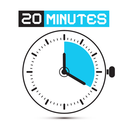 minutes: Twenty Minutes Stop Watch - Clock Illustration Illustration