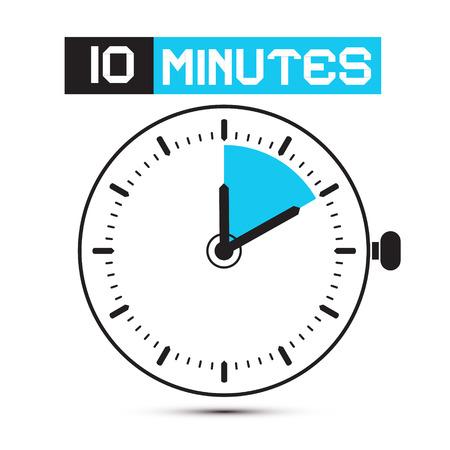 10 分間停止時計 - 時計の図  イラスト・ベクター素材