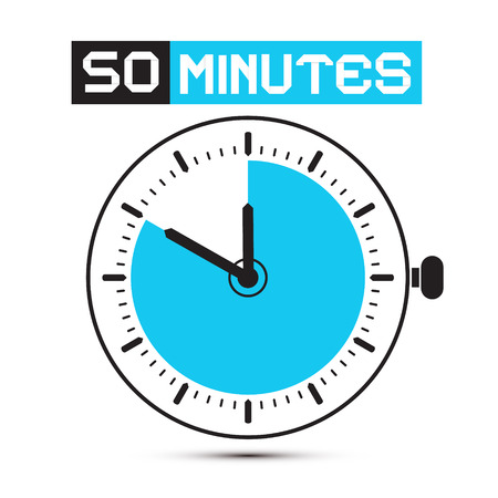 stop watch: Fifty Minutes Stop Watch - Clock Illustration
