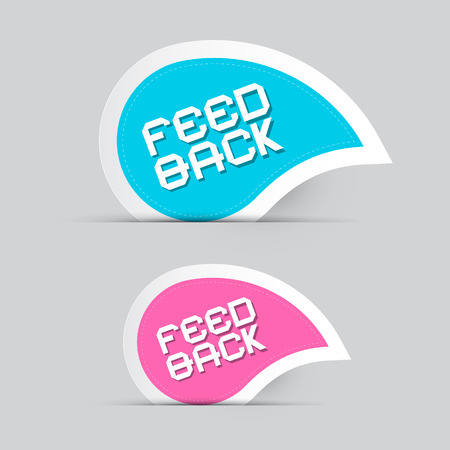 Paper Feedback Icons Illustration Isolated on Grey Background Vector