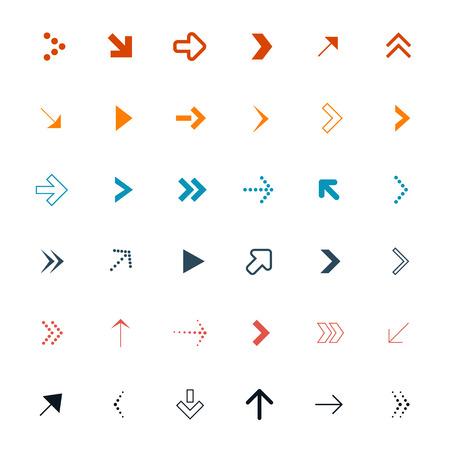 Vector Arrows Set Illustration