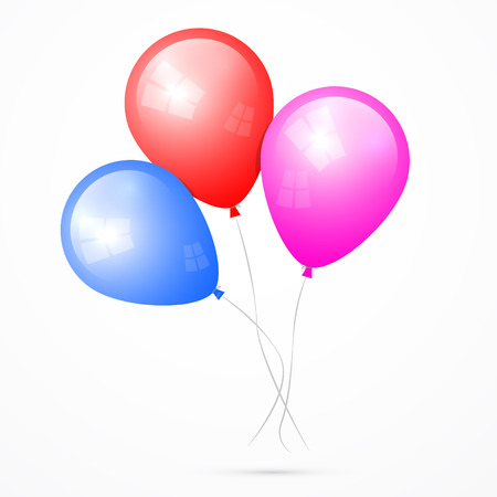 Vector Balloons Isolated on White Background Illustration
