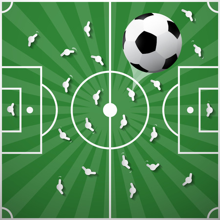 fotball: Football Ball on Green Playground Background