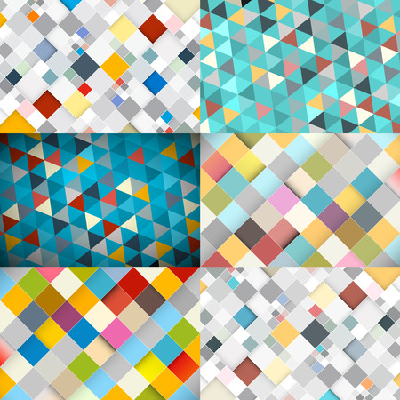 Abstract Vector Square and Triangle Background Stock Vector - 28763658