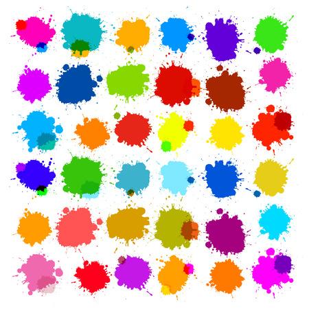Colorful Vector éclaboussures - Blot, Stains Set