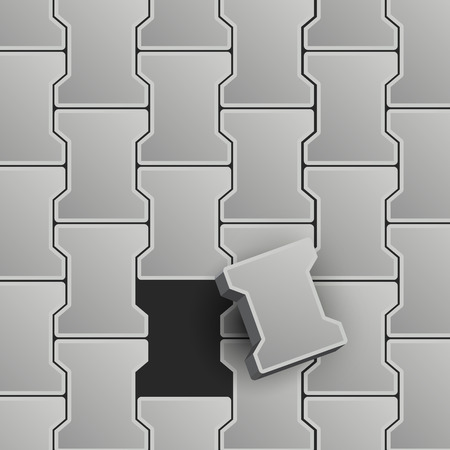 piedra laja: Ilustraci�n vectorial Lock Pavement Vectores