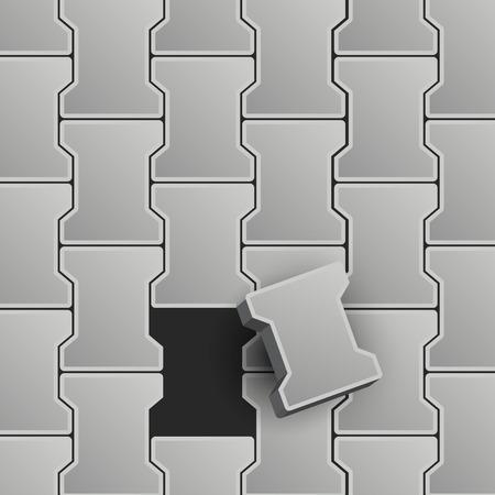 flagstone: Lock Pavement Vector Illustration