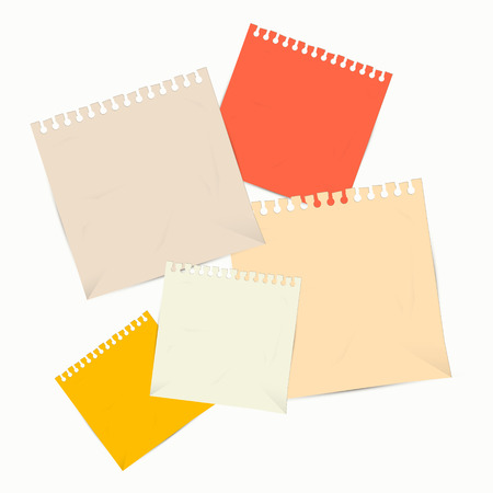 paper sheets: Colorful Vector Empty Paper Sheets Illustration