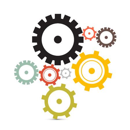 歯車・歯車イラスト白背景に分離  イラスト・ベクター素材