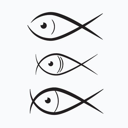 pez abstracto: Resumen Ejemplo de los pescados
