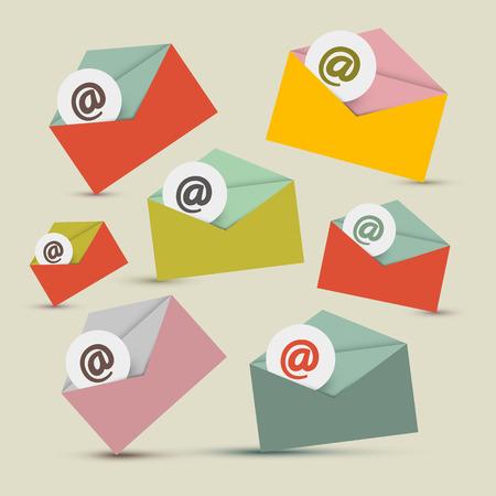 Envelopes - E-mail Icons Set Illustration