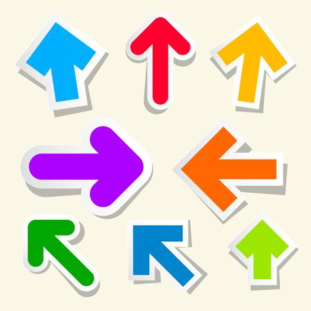 Colorful Paper Arrows Set