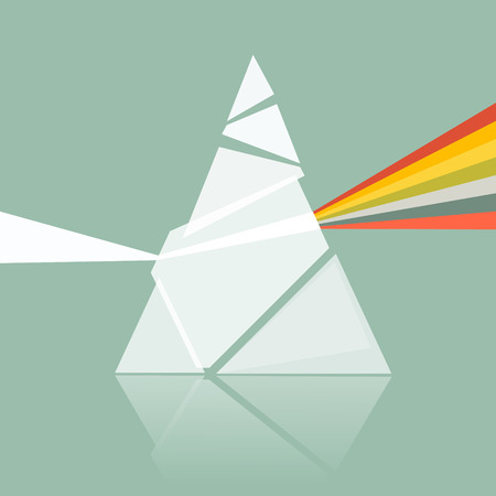 Prism Spectrum Illustration on Retro Background  Illustration